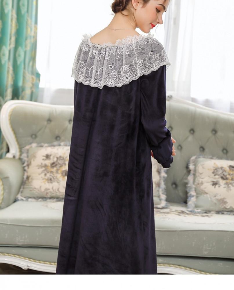 فستان نوم شتوي طويل
