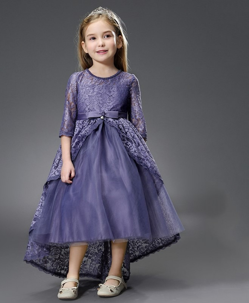 فستان اطفال بنفسجي