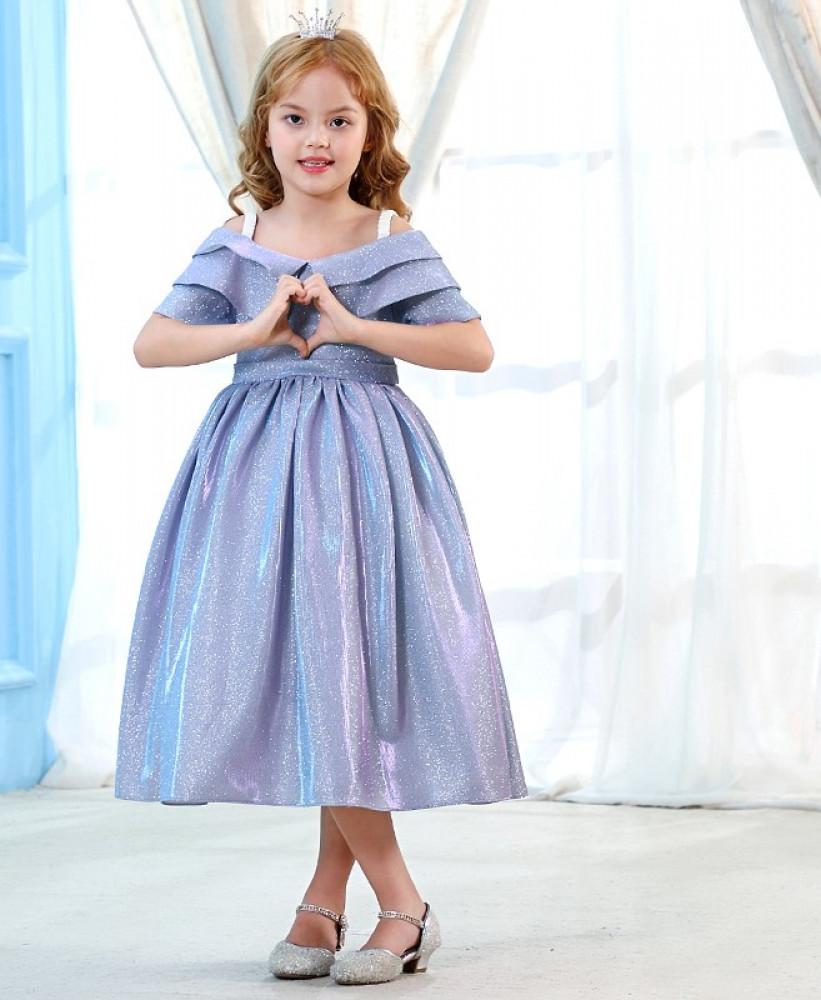 فستان اطفال لامع للحفلات