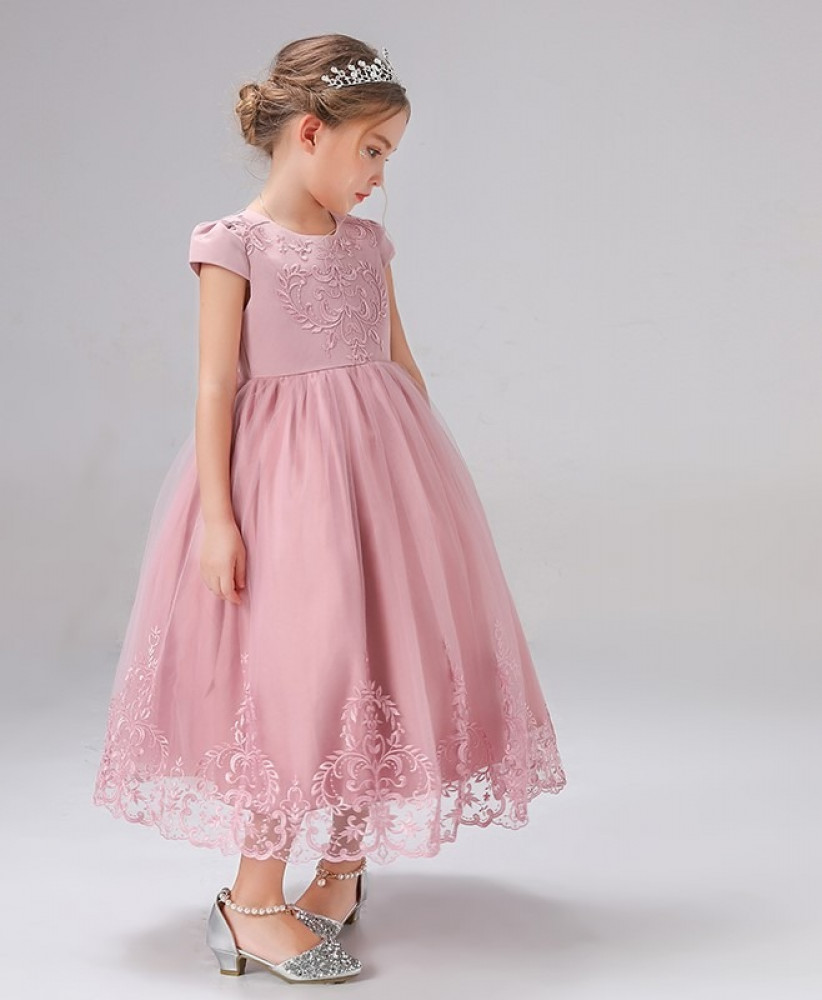 فستان بناتي وردي