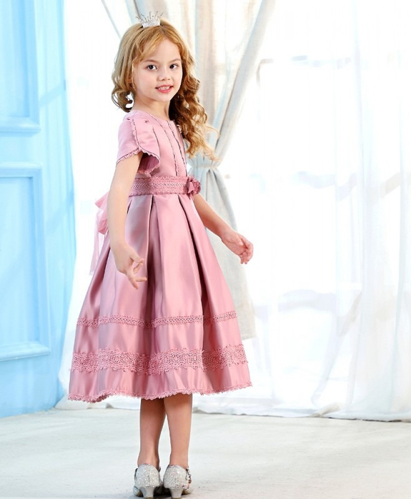 فستان اطفال وردي
