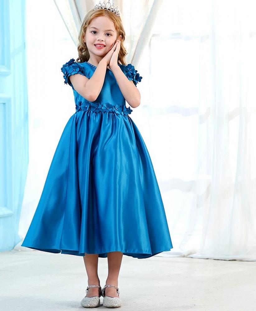 فستان اطفال بلون ازرق