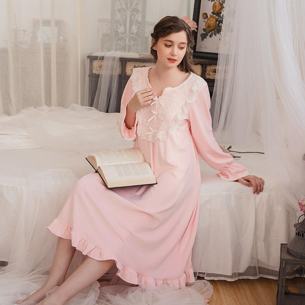 فستان نوم مخمل شتوي
