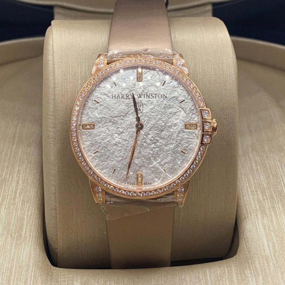 ساعة هاري وينستون روز قولد مع الماس الأصلية