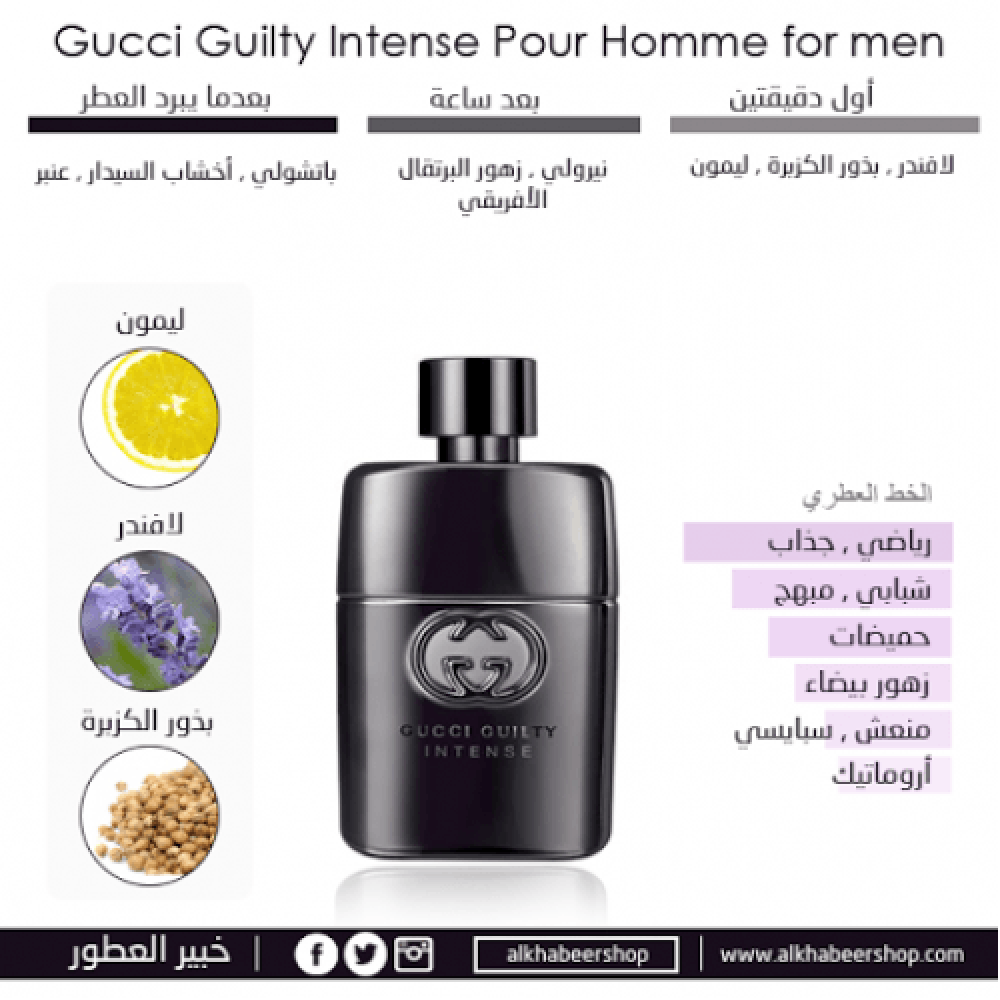 Gucci Guilty Pour Homme Intense Eau de Toilette 50ml خبير العطور