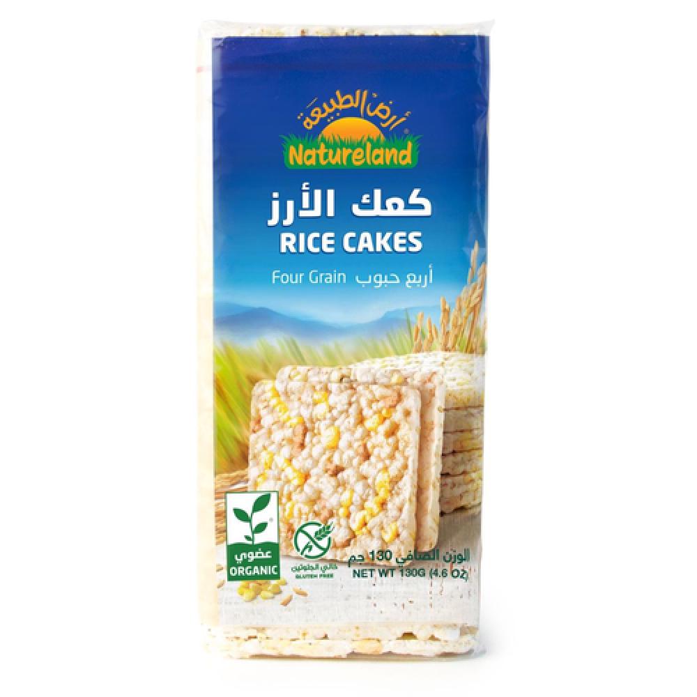 كعك الأرز أربع حبوب عضوي 130 جرام