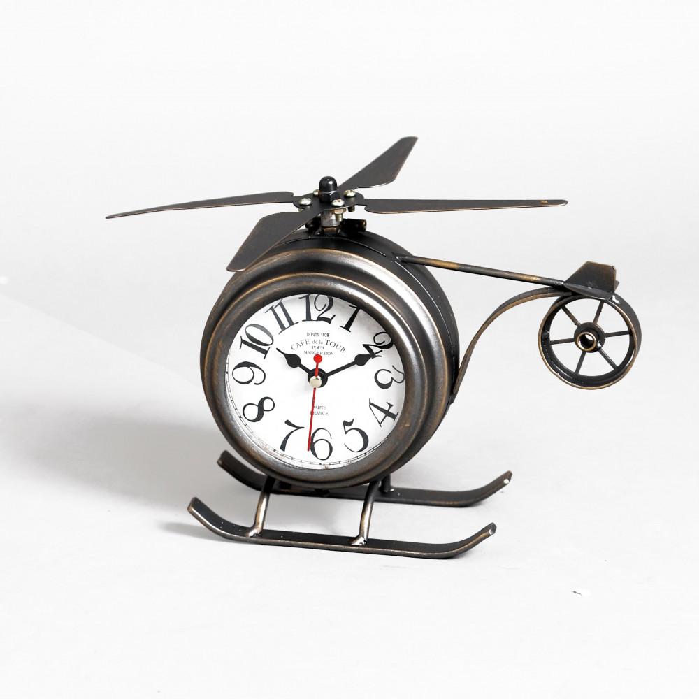 صور ساعة طاولة أنتيكة موديل بلان وان شكل الطائرة صناعة معدنية قديمة