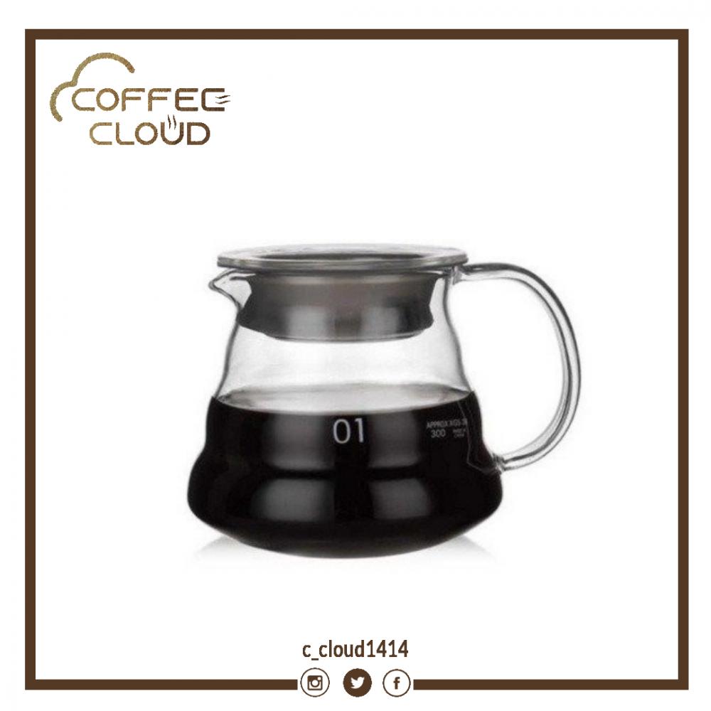 إناء تقديم القهوة زجاجي 360 مل متجر كوفي كلاود محامص ادوات تحضير القهو