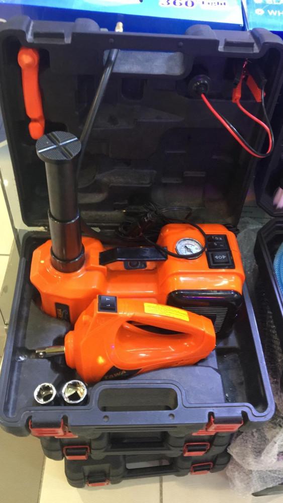 رافعة 3 طن للسيارة كهربائية 3 فى 1 رافعة ضاغط هواء مفتاح عجلات 12 فولت