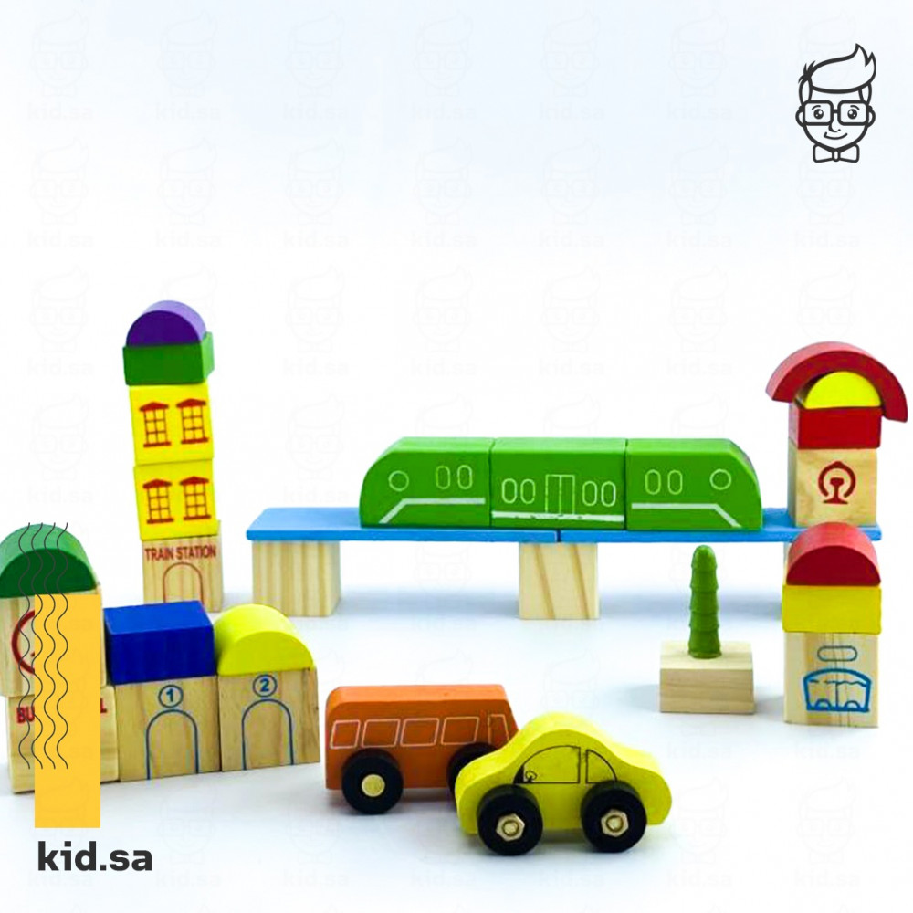 العاب سيارات و قطارات خشبية للاطفال