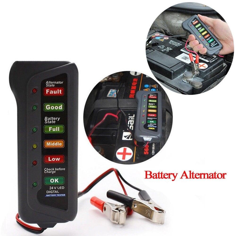 جهاز فحص كفاءه واعطال نظام شحن دينمو السيارة والبطارية 12 فولت 6 أوضاع