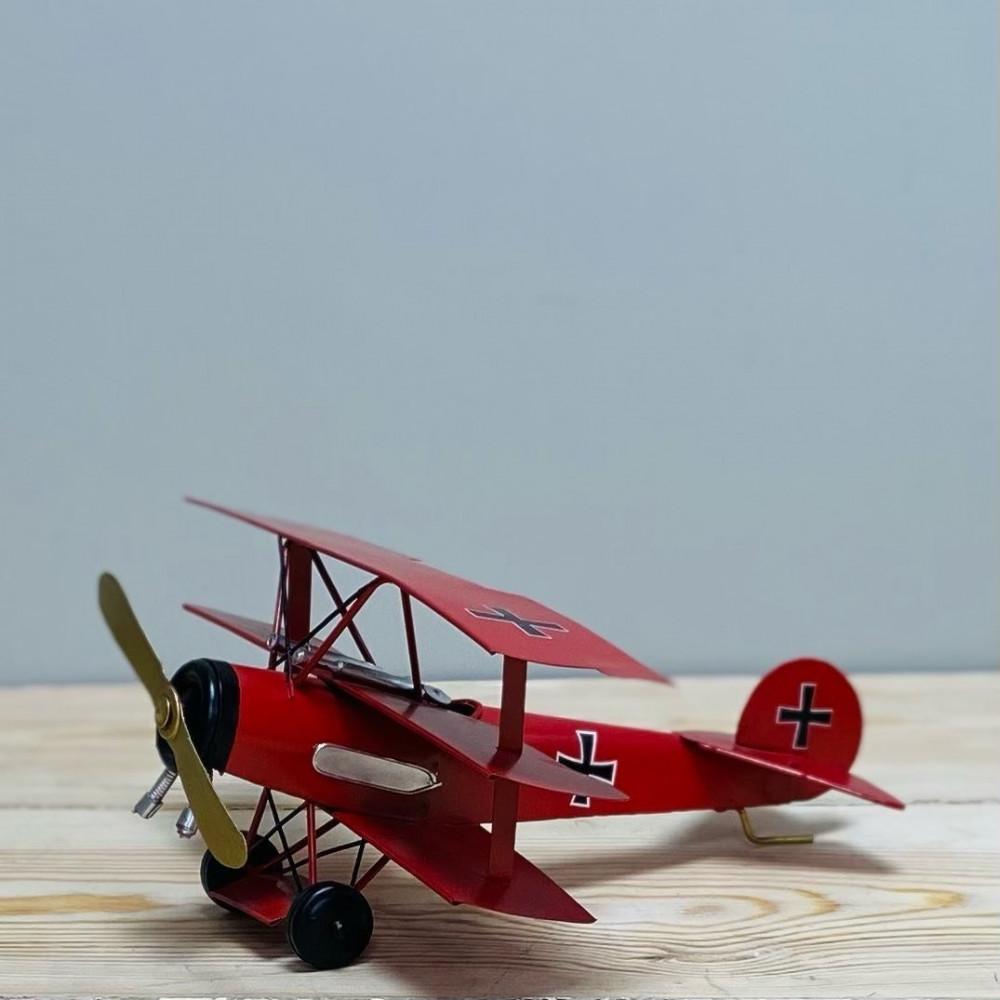 طائرة شراعية حديد احمر تحف وهدايا طائرة حديد