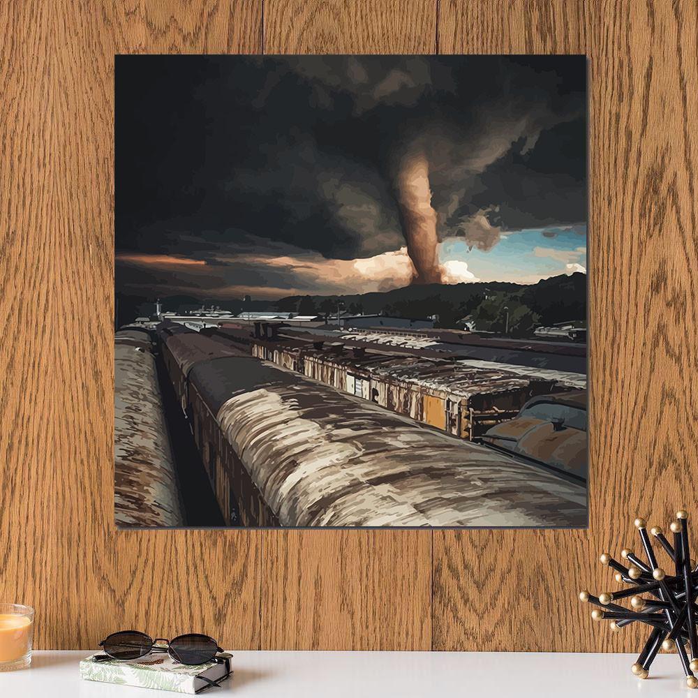 لوحة عاصفة خشب ام دي اف مقاس 30x30 سنتيمتر