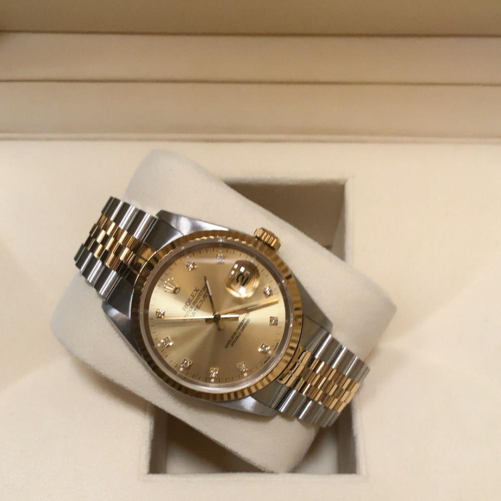ساعة رولكس ديت جست الأصلية الثمينة مستخدمة
