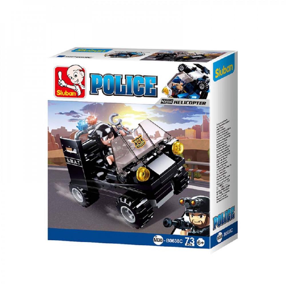 سلوبان, قطع تركيب بلاستيك, مركبة بوليس, ألعاب, Police, Sluban