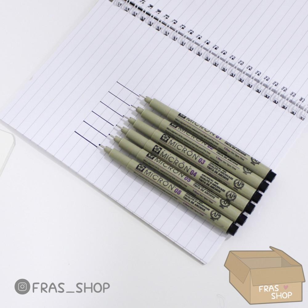 اقلام مايكرون للتحبير 6 أقلام