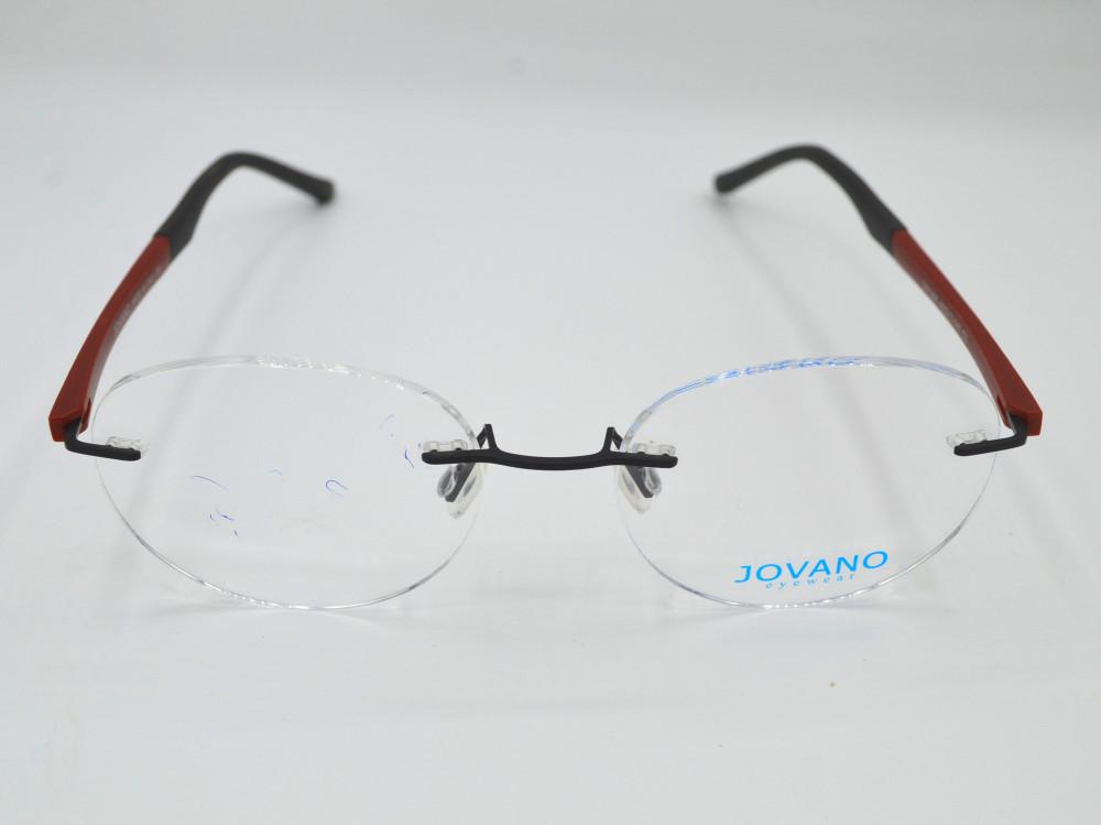 نظارة طبية بدون اطار من ماركة JOVANO لون الذراع اسود و احمر
