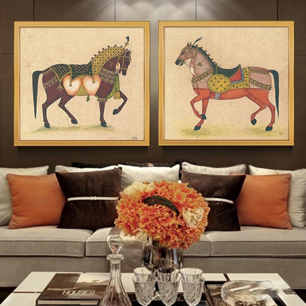 لوحات جدارية خيول