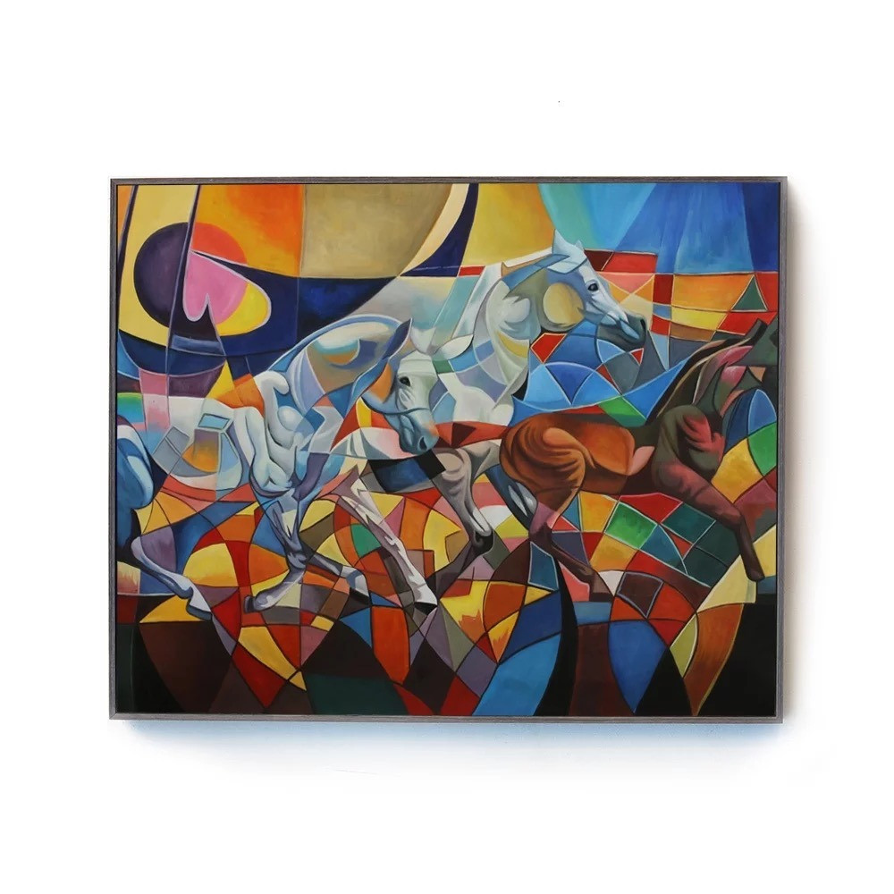 لوحة  خيول جدارية قماش كانفس
