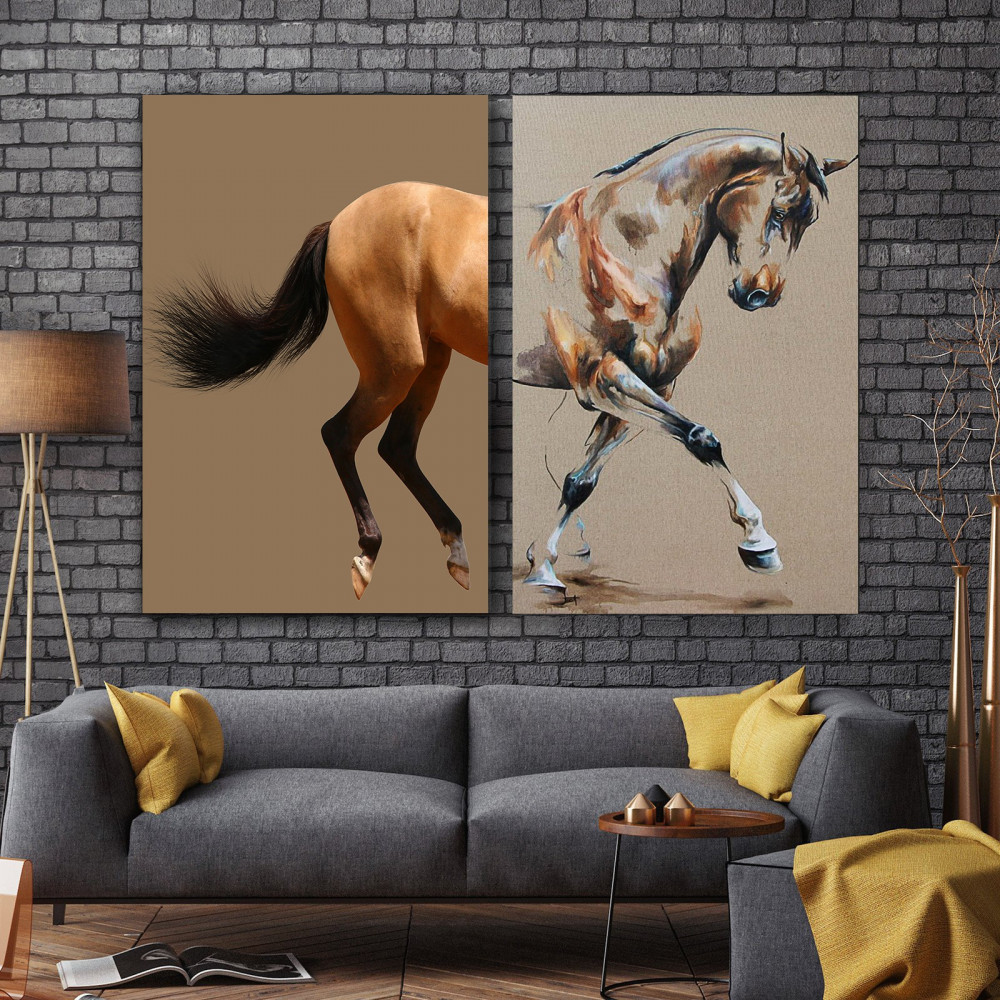 لوحات فنيه خيول
