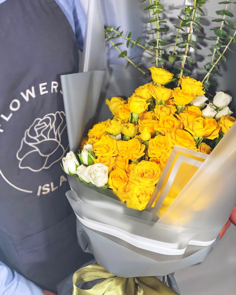 بوكية ورد أصفر جزيرة الورود Flowers Island