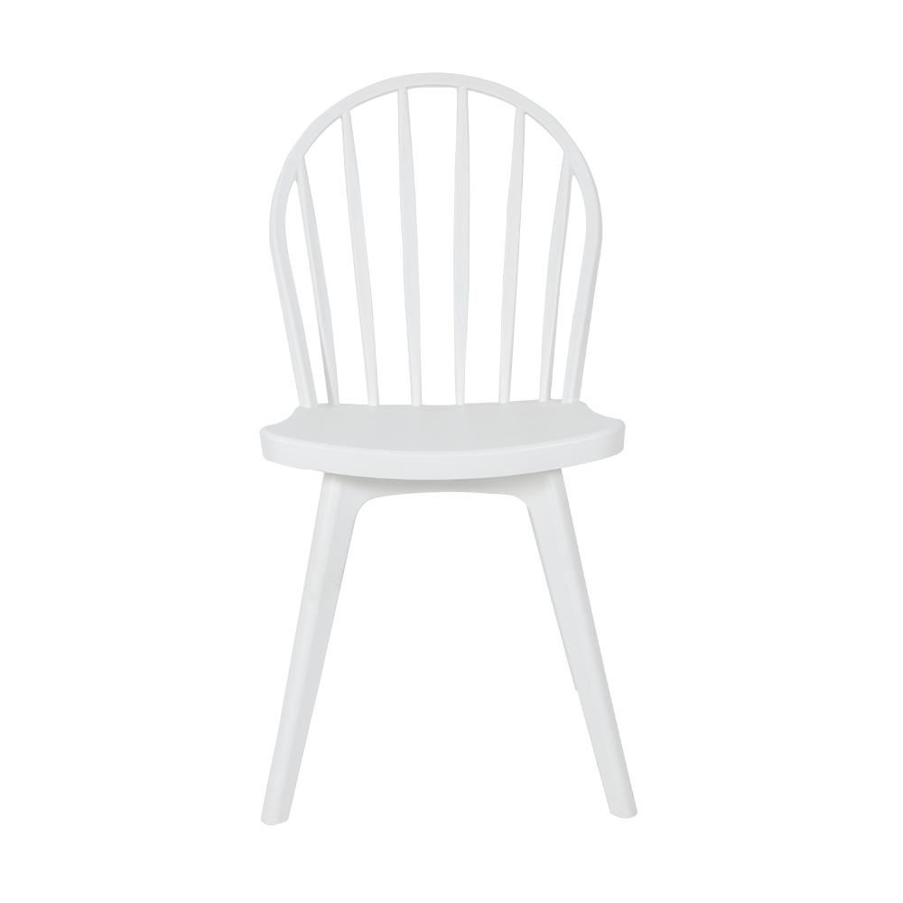 كرسي حدائق من طقم كراسي أبيض من البلاستيك في تجارة بلا حدود للأثاث