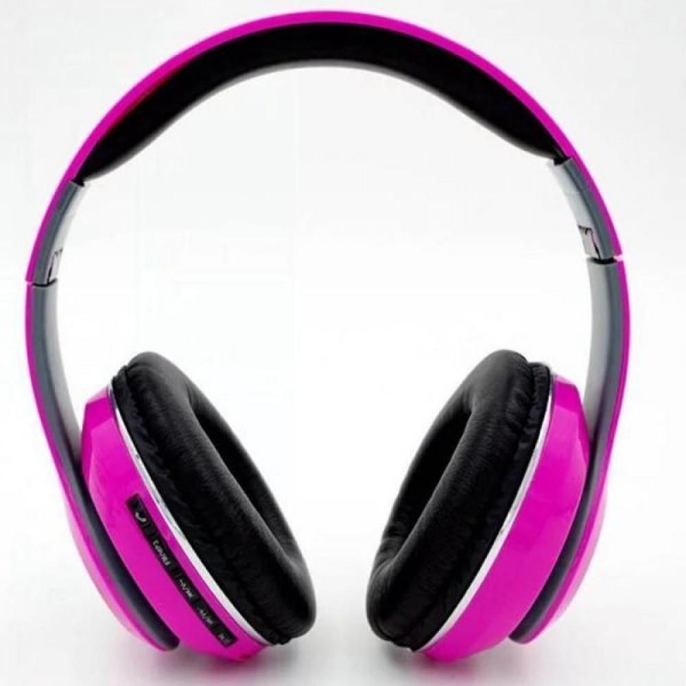 سماعات بلوتوث لاسلكية قابلة للطي موديل STN13 زهري