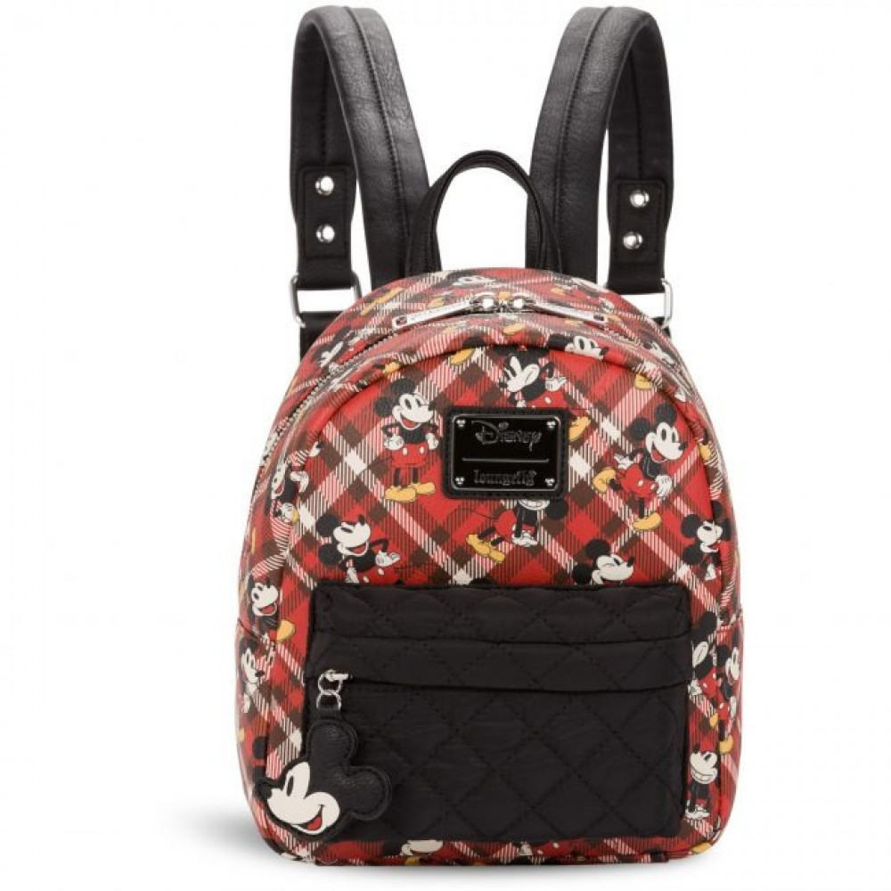 Loungefly Mickey Mouse Twill Mini Backpack