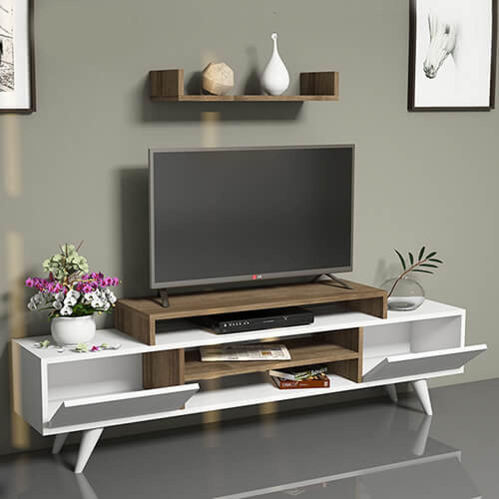 صور طاولات التلفاز طاولة تلفزيون خشب موديل ميلسا حصرية ومميزة مواسم
