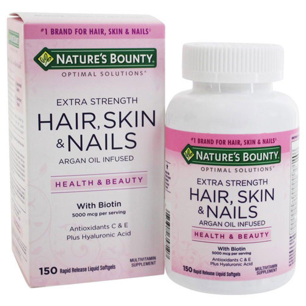 فيتامينات ناتسرز باونتي natures bounty hair skin and nails