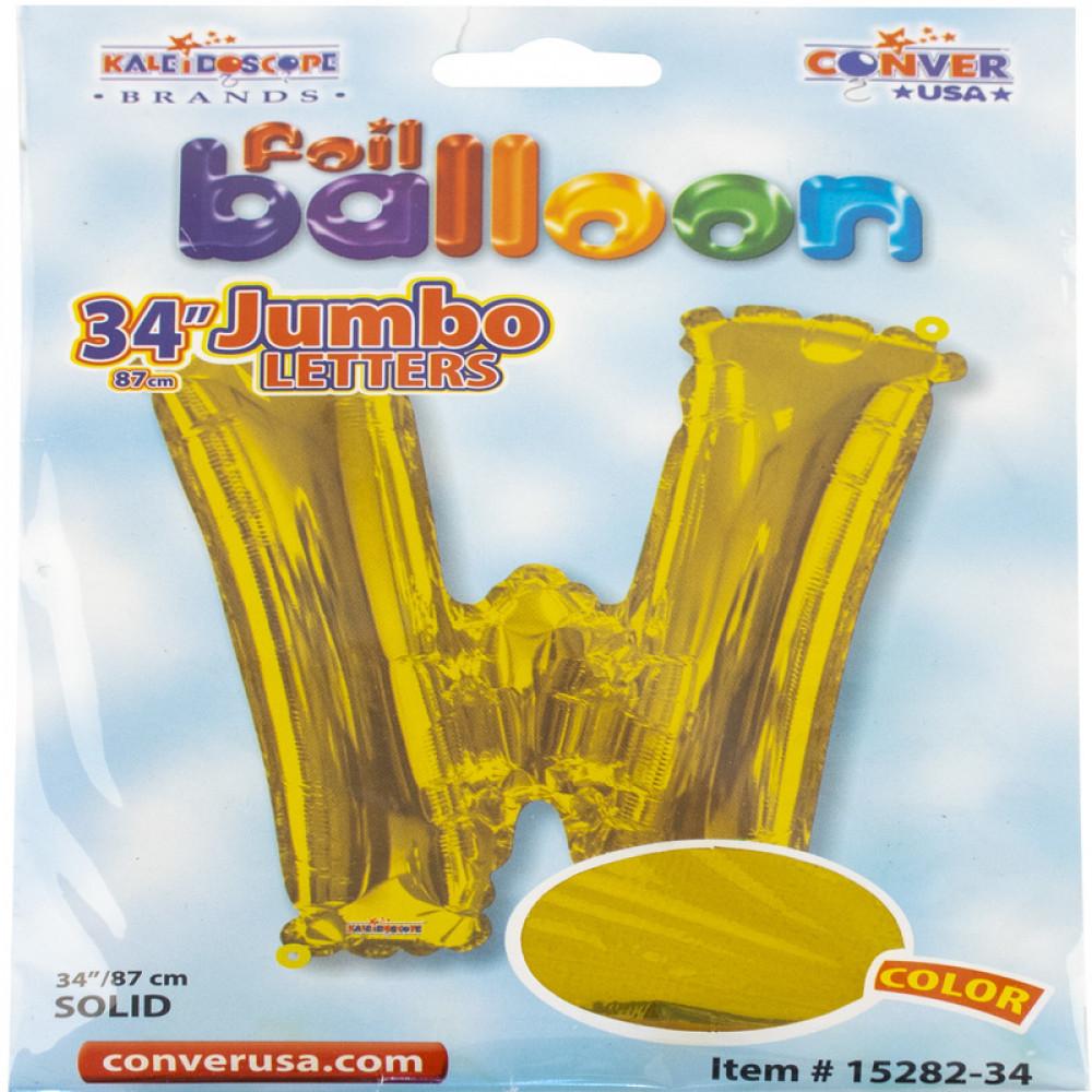 بالون ذهبي, Golden Balloon, بلونات أحرف, بالون حرف W