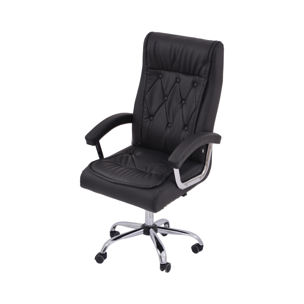 كرسي دوار جلد اسود من كاما  DTKXH-235