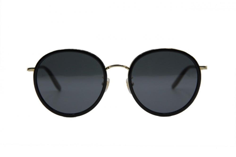 نظارات شمسية لون أسود GUCCI لون العدسة رمادي مدرج