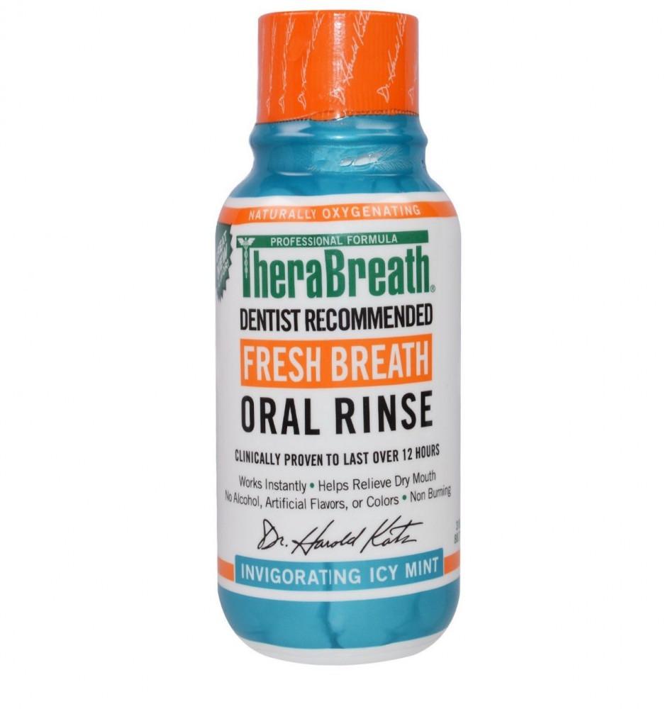 TheraBreath غسول الفم بالنعناع المثلج 88 ملل افضل غسول فم