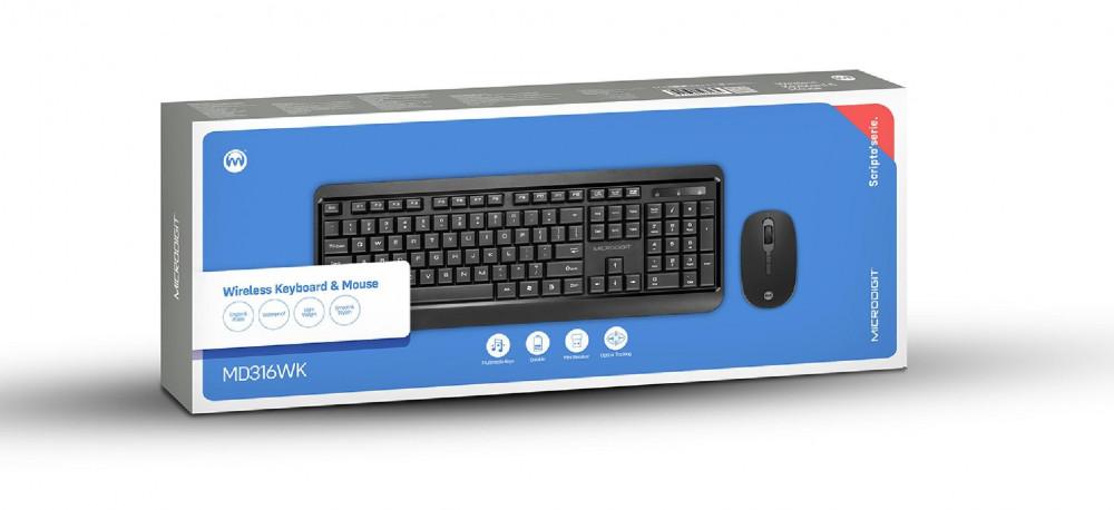 لوحة مفاتيح وماوس مايكرودجيت لاسلكي