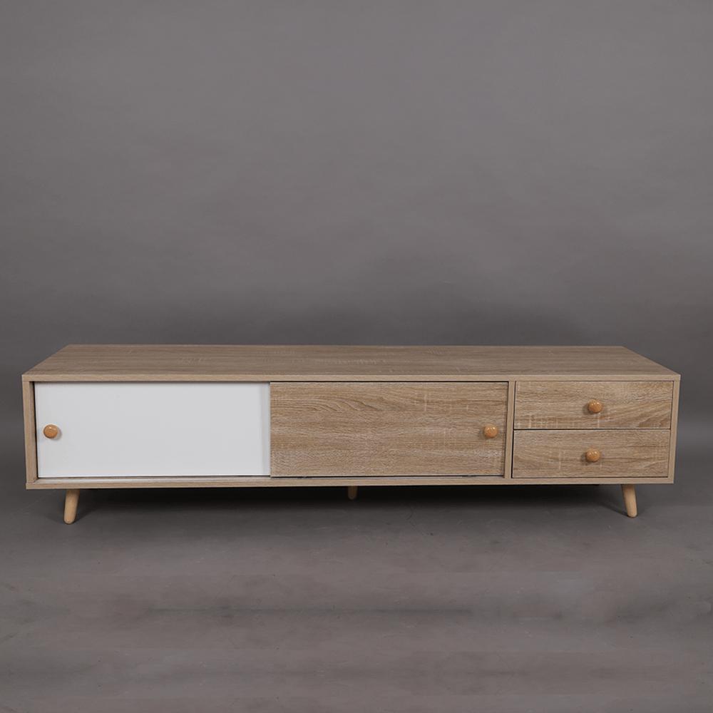 التصميم الجذاب طاولة التلفاز الخشبية المميزة موديل سمات متجر مواسم