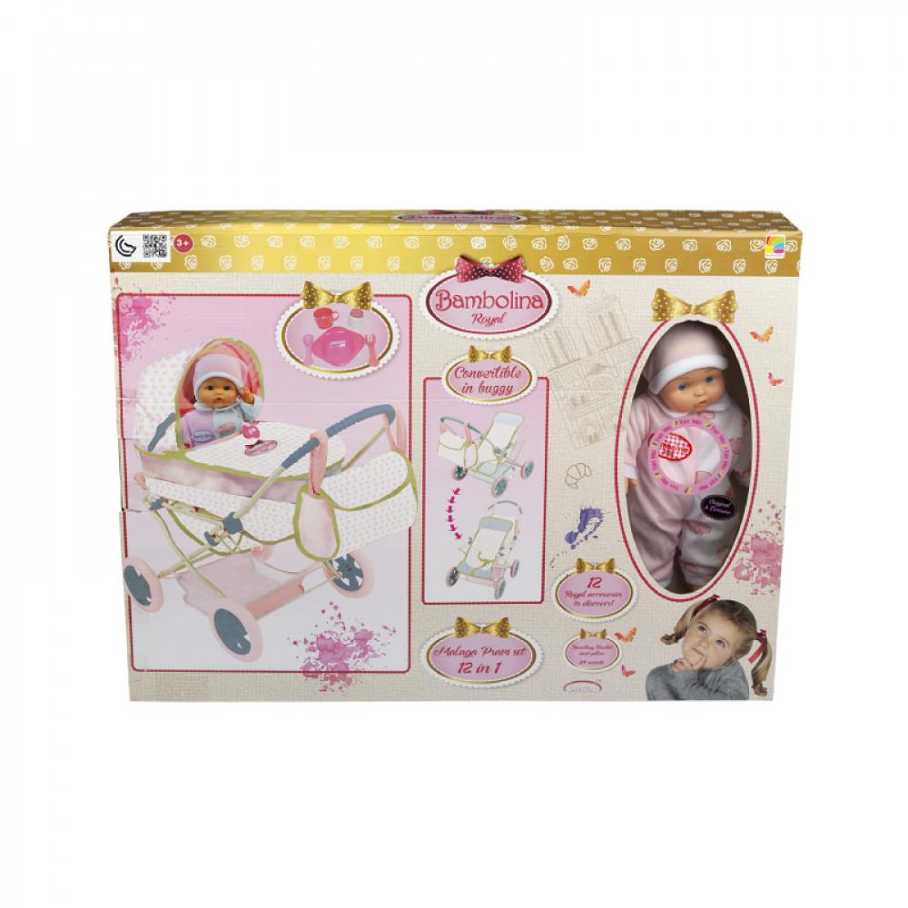 عروسة بامبولينا رويال مع طقم عربية, ألعاب, Toys, Bambolina