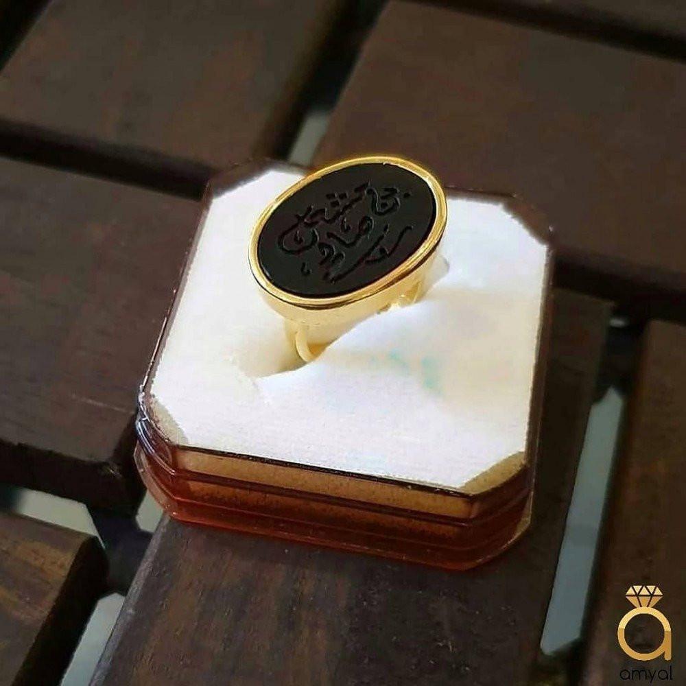 خاتم ملكي راقي من الفضة المطفة الخالصة