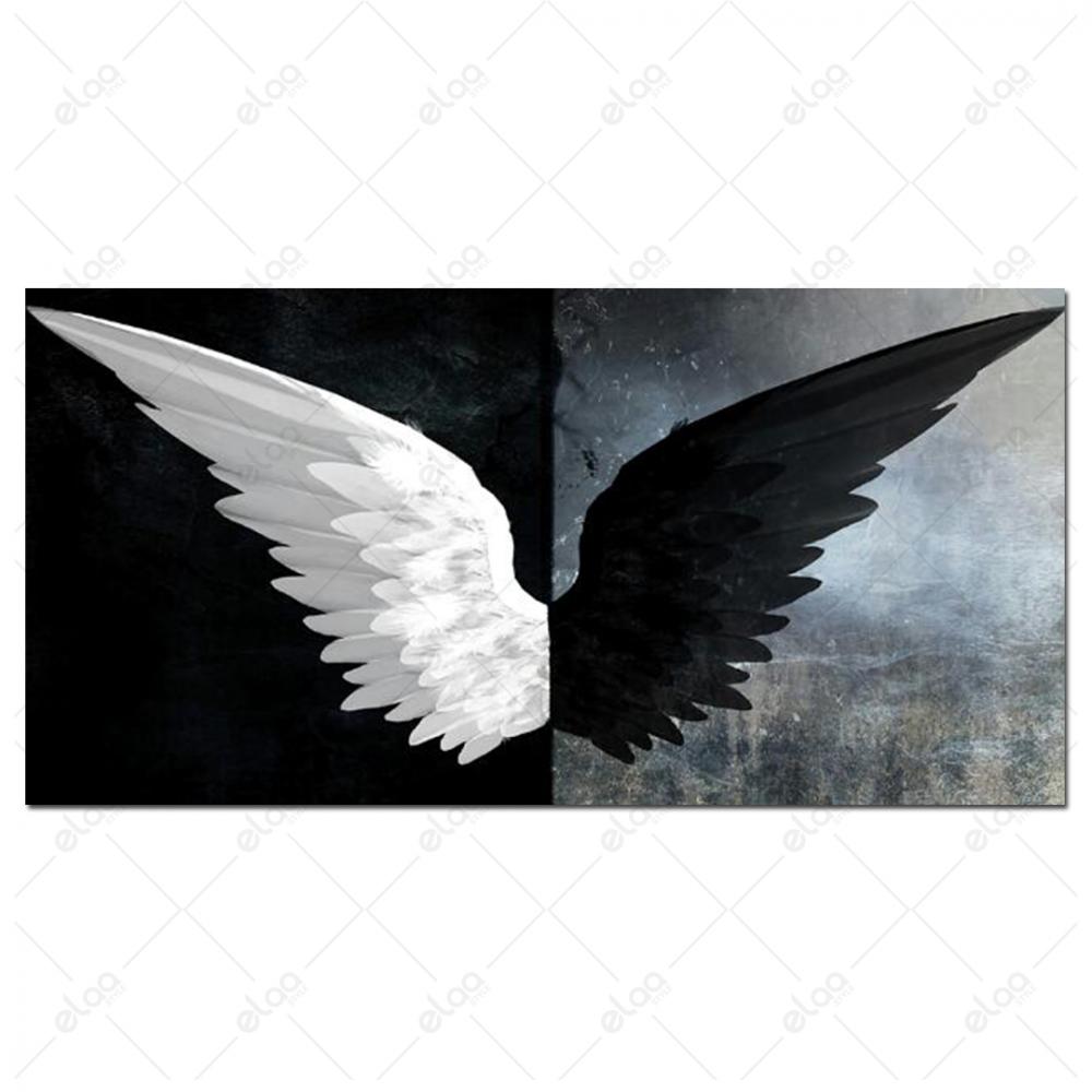 لوحة فنية لصورة ريش طائر بالابيض والاسود