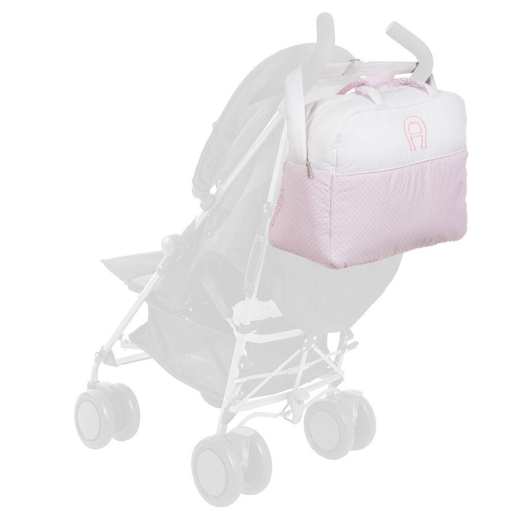 حقيبة يد باللون البيج باللون الزهري من ماركة Aigner