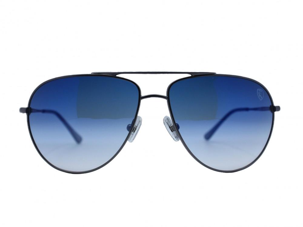 نظاره شمسية بيضاوي من ماركة TROY لون العدسة ازرق مدرج