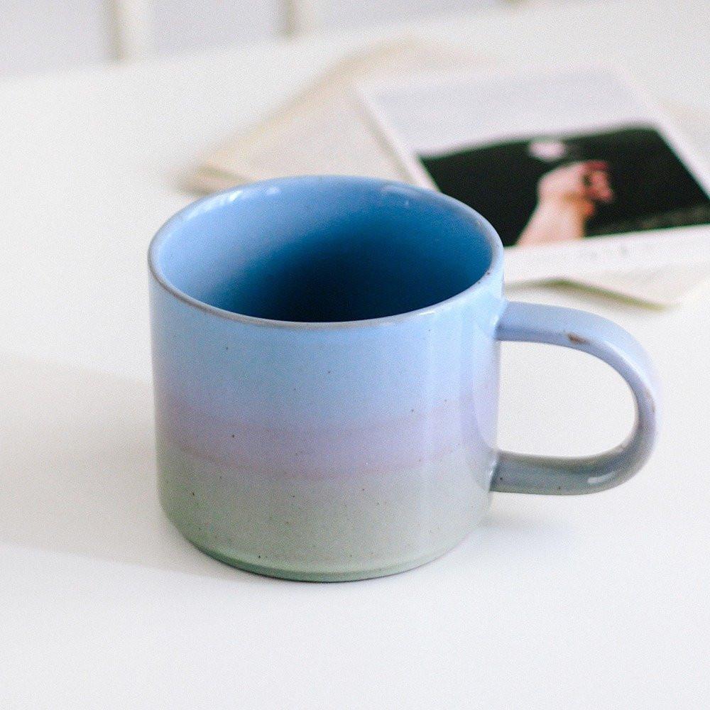 كوب قهوة كوب لاتيه أكواب قهوة أدوات ركن القهوة لون موف أزرق أخضر متجر