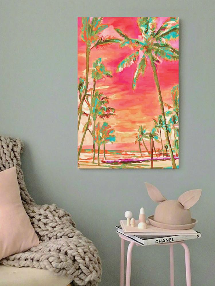 لوحة نخيل خشب ام دي اف مقاس 40x60 سنتيمتر
