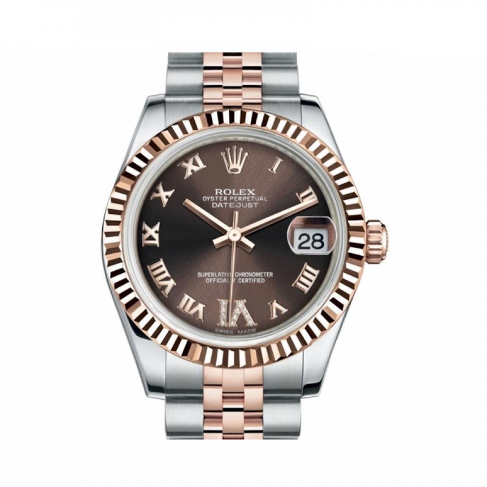 ساعة رولكس ديت جست الأصلية الثمينة جديدة كليا