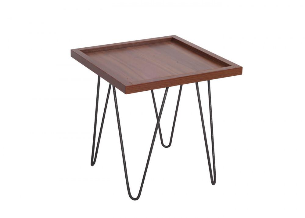 طاولة جانبية موديل كاري خشب MDF وسطح مقاوم للخدش ذات أرجل لون مميز