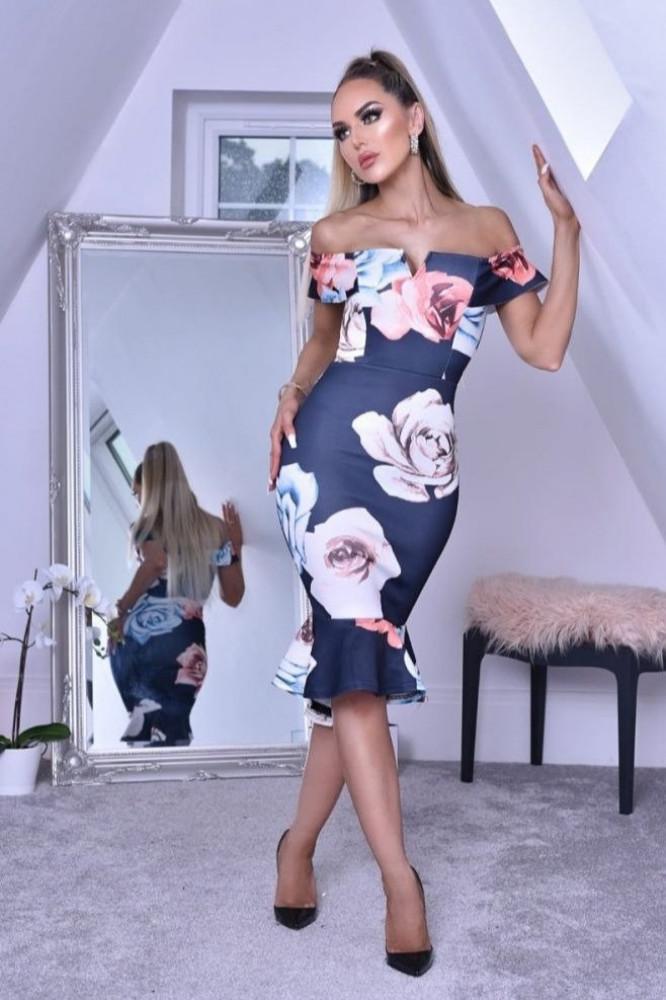فستان مزهر