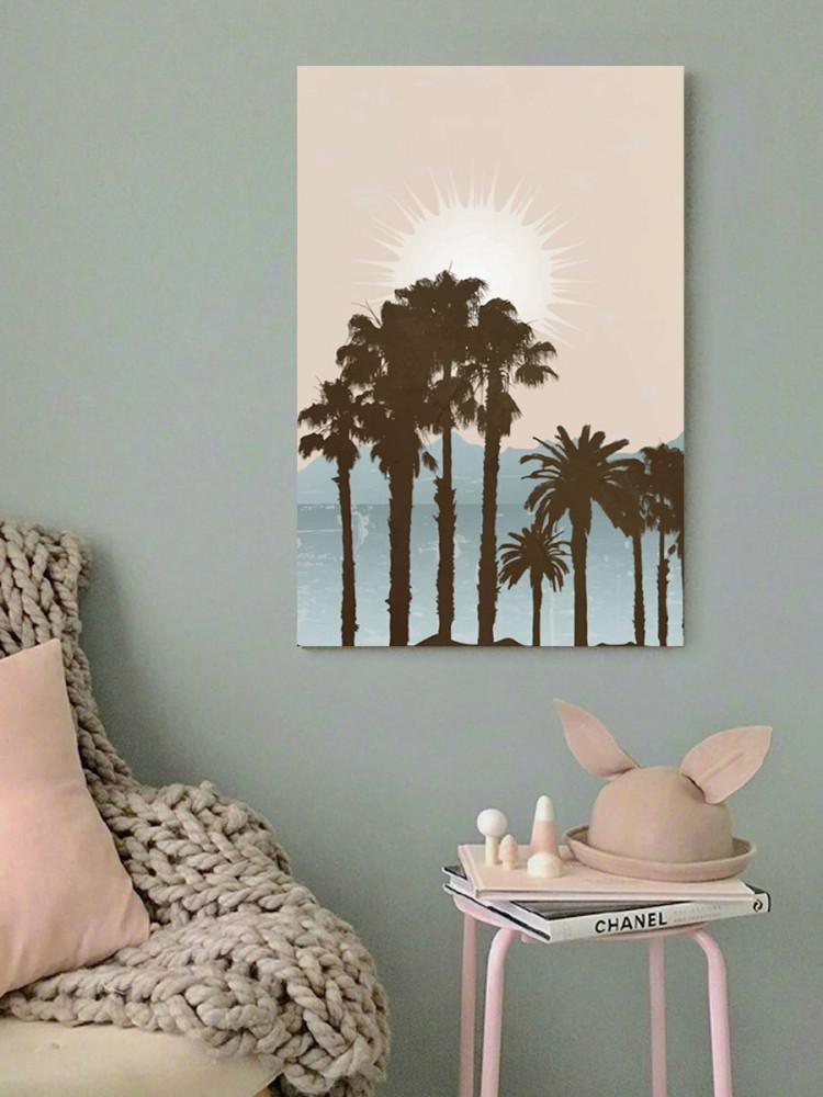 لوحة شروق الشمس خشب ام دي اف مقاس 40x60 سنتيمتر