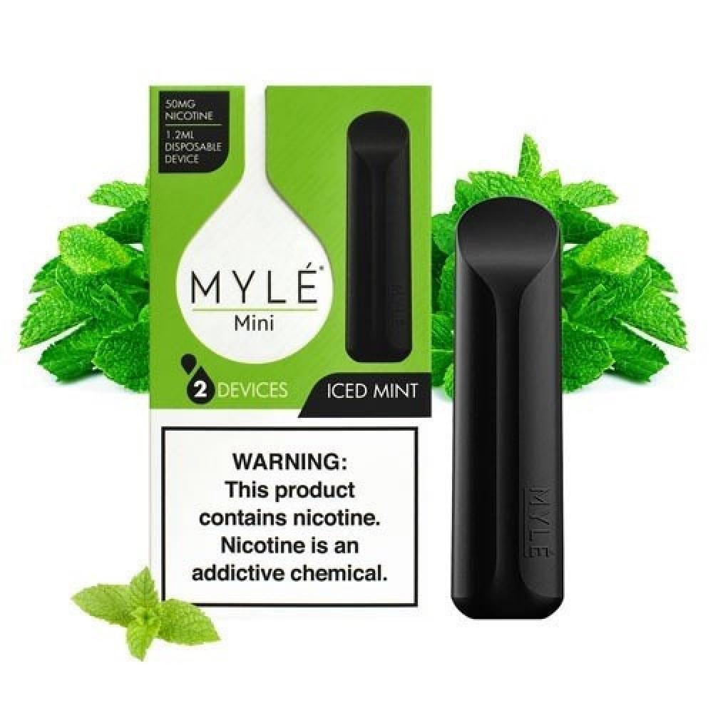 مايلي ميني بنكهة النعناع البارد - MYLE Mini Iced Mint -  شيشة سيجارة
