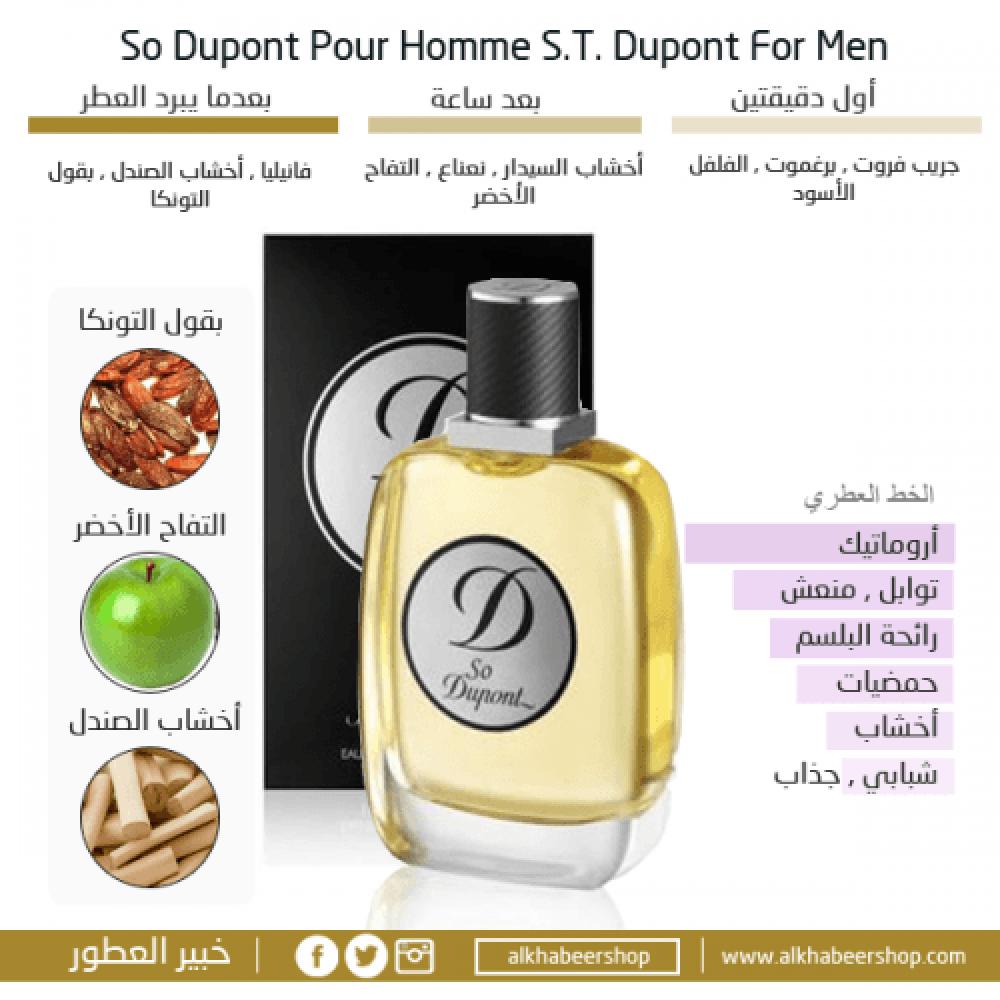 S T Dupont So Dupont Pour Homme Eau de Tolitte متجر خبير العطور