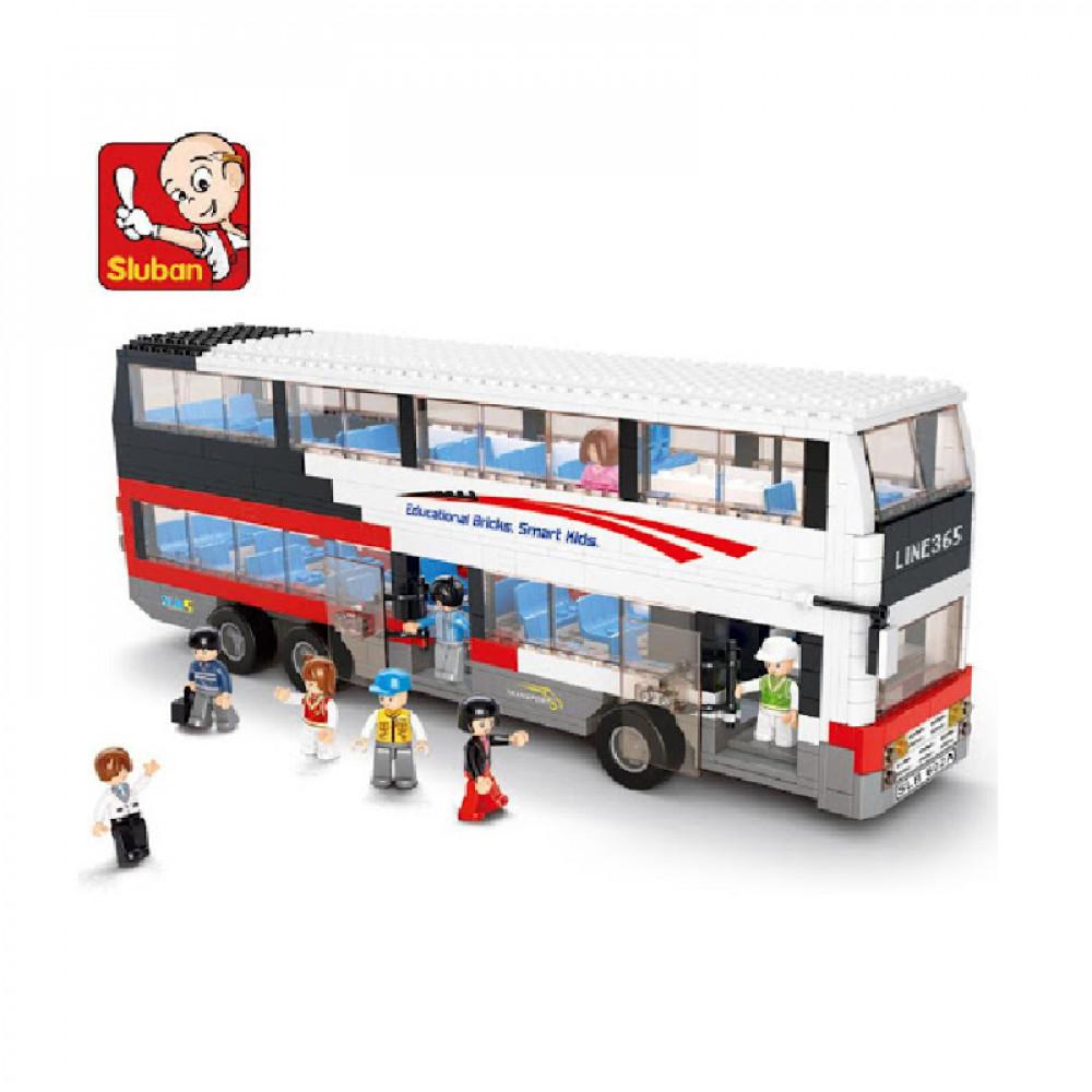 سلوبان, قطع تركيب, الباص المزدوج, ألعاب, Toy Bus, Sluban